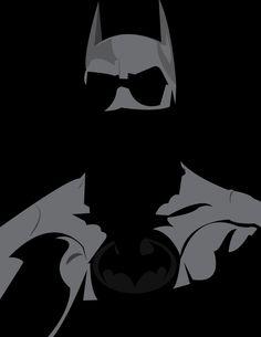 Batman in shadow