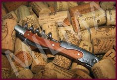 Laguiole Waiters Corkscrew  Rosewood Handle w Leather Pouch * More info could be found at the image url.
