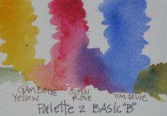 Watercolor Basic Palette 1B - Diana Trout #Art journal #watercolor primer