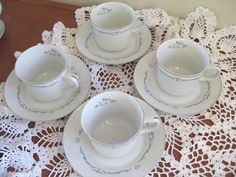 Petite Bouquet China Teacups and SaucersSignature by ChinaGalore, $22.00