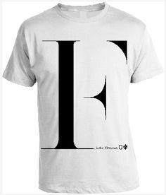 F (is for) TSHIRT  100% cotton  http://www.lapiccolatshirteria.com/