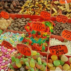 Candy for sale at La Merced Market in Mexico City