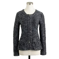 Boucle Peplum Jacket - Its a sweater / jacket - perfect for those casual office days