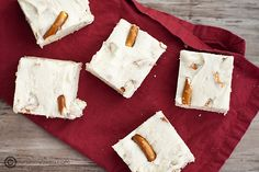 White Chocolate Pretzel Fudge - pretzel recipes curated by SavingStar Grocery Coupons. Save money on your groceries at SavingStar.com