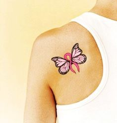 Tattoo Design - Breast Cancer Butterfly - LoveItSoMuch.com