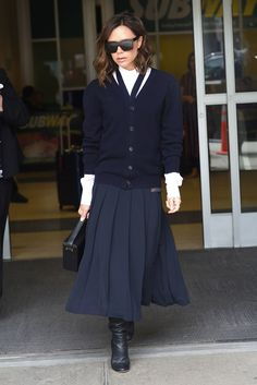 Victoria Beckham wearing her own label in New York