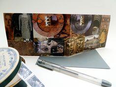 Handmade birthday card, by Fifi's Dream original art collage, OOAK, happy birthday, grey envelope. $6,38 USD  See: www.etsy.com/nl/listing/129544519/handmade-birthday-card-original-art?ref=shop_home_active_14