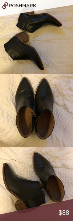 fa20241ea51 Madewell Justine Boot Black leather booties from Madewell. Practically brand  new. Worn only a