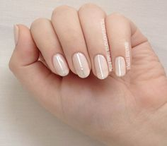 Polished and Proper: Minimalist nails #nails #nailart