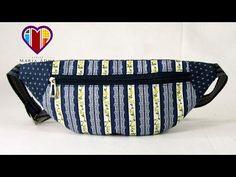 Bolsa tipo pochete de tecido passo a passo. Fabric money belt tutorial. - YouTube