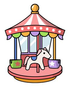 Clip Art Carousel Clipart carousel ponies cute carnival with free clip to use public domain theme park art