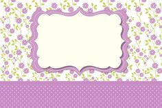 Marco y tarjeta floral de la invitación de la lila: