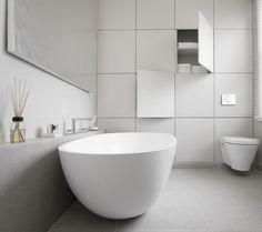 decoralinks | armario empotrado que simula ser una pared con cuarterones - bathroom