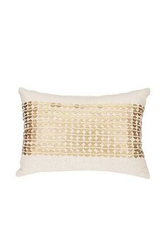 Gold Sequin Stripe Pillow / Urban Outfitters