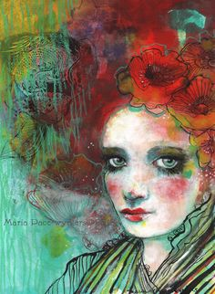 The Spanish Poppy   Fine Art Reproduction On by MariaPaceWynters, $25.00