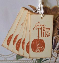 Thanksgiving Gift Tags Favor