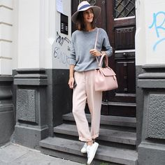 Men's pants in girly blush and my new Laurent Moujik available