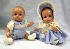 Vtg 1996 Effanbee Patsy Babyette Twins Dolls #9604 1933 replica F&B Hard Plastic by MermeowTreasures on Etsy
