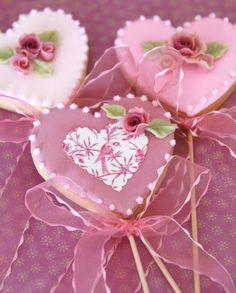 Cakes Haute Couture - Pasteles de Alta Costura: Cookies de San Valentín