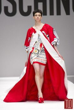Moschino Fall 2014 Collection |Back of cape has this label: King of Clothes
