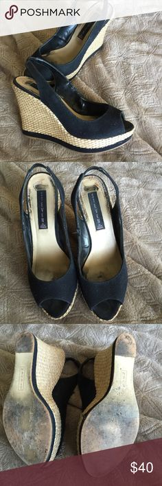 """Steven by Steve Madden Wedges 4"""" heels. Good condition, wear shown in picture. Steven by Steve Madden Shoes Heels"""