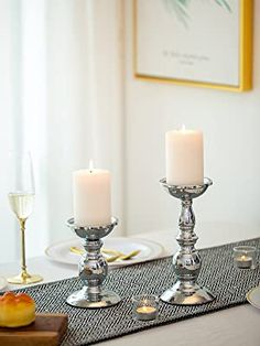 Color Plata, Candle Holders, Spa, Metal Candle Holders, Elegant Dinner Party, Candle Sticks, Incense, Wedding Gifts, Aromatherapy