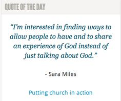 Author Sara Miles on putting #church into action: http://spokanefavs.com/2013/10/23/putting-church-action/