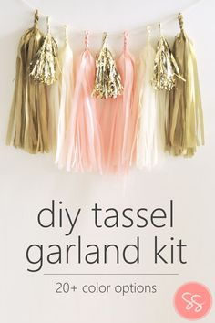 DIY Tassel Garland Kit | Perfect for weddings, showers, birthdays, or just adding a little whimsy to your home decor!