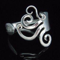 Ideas, Forks, Fork Bracelet, Fork Art, Diy Craft, Art Jewelry, Antique Silver, Crafts