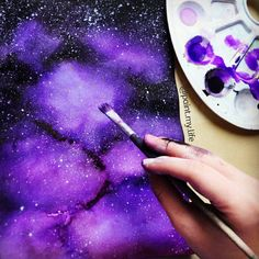 """7,660 Likes, 392 Comments - Aneta Skalová (@paint.my.life) on Instagram: """"I love doing these 'galaxy paintings' 🎨🌌 What do you enjoy drawing the most?:) I would like to draw…"""""""