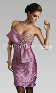 Beautiful And Luxurious Sheath/Column Sweetheart Mini Elastic Woven Satin Cocktail Dresses