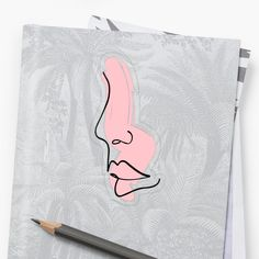 'Line Art Sketch - Beautiful Face ' Sticker by Drugaya Face P, Face Stickers, Historical Images, Transparent Stickers, Indian Art, Art World, American Art, Art Sketches, Art History
