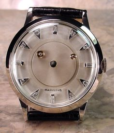 Vintage Hamilton Mystery Dial, I love this watch Vintage Watches For Men, Unique Watches, Women Skeleton, Skeleton Watches, Mens Sport Watches, Mens Gear, Beautiful Watches, Watches Online, Luxury Watches