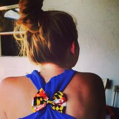 On warm summer nights I tie my shirts with bows! Your bows aren't just pretty in your hair, they're good anywhere  #hairbows #MD #summer #GetCreative