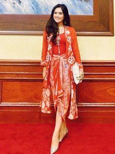 Beautiful long kebaya