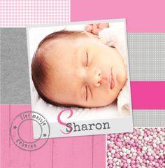 Sharon Meisje, geboorte, foto, roze, muisjes