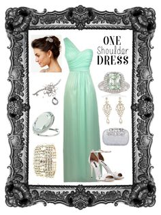 """Lily Boutique's One Shoulder Dress"" by lena-kontos ❤ liked on Polyvore featuring Dolce&Gabbana, Josette, Ross-Simons and Miss Selfridge"