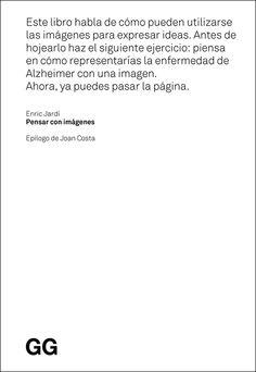 Comunicando: Libros: Pensar con imágenes