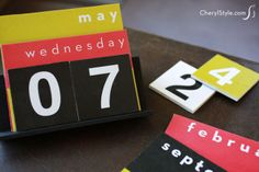 our perpetual #DIY desktop #calendar is easy to make & meant to last | CherylStyle.com
