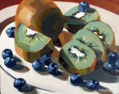 "https://flic.kr/p/7G5Y2V | ""Kiwis and Blueberries"" Sold | 8x10"" Original Oil on Panel Still Life"