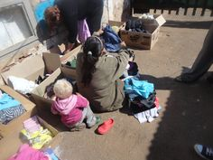 Clothes were given out to people in need
