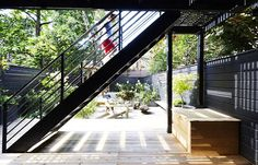 Best Outdoor Living Space 2017: A Brooklyn Backyard in Black by Edible Petals