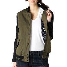 Womens Twill Varsity Jacket