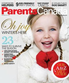 Parents Canada red and white cover!