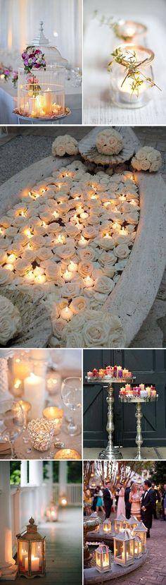 Iluminación de bodas y fiestas con velas