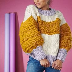 Currently Living In The Miss Polly Cardigan 😍 Actually Woke Up Cold For The First Time This Summer But Totally Happy It's Woolly Time, Even… Jumper Patterns, Sweater Knitting Patterns, Chunky Knit Jumper, Rainbow Sweater, Knit Fashion, Crochet Clothes, Foto E Video, Knitwear, Knit Crochet