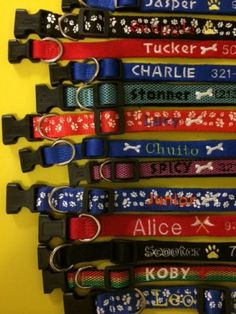 Embroidered Personalized Dog Collar Leash with Name Phone ID Free Shipping | eBay