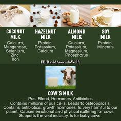 In case you're wondering why you shouldn't drink cow's milk - and that's not all! ‪#‎eatclean‬ ‪#‎healthyeating‬ #milk