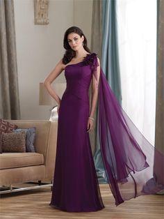 MONTAGE - Purple Chiffon Gown