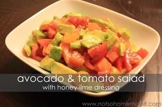 Not So Homemade: Avocado & Tomato Salad with Honey-Lime Dressing